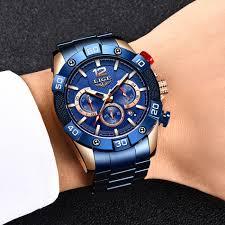 Ceas barbati Lige Elegant Model 2020 Quartz Analog Cronograf Fashion4