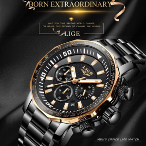 Ceas de mana barbatesc, Lige, Analog, Business, Luxury, Cronograf, Otel inoxidabil, Cronometru [2]