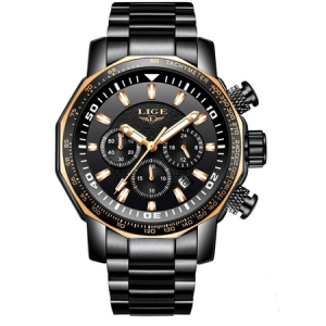 Ceas de mana barbatesc, Lige, Analog, Business, Luxury, Cronograf, Otel inoxidabil, Cronometru [0]