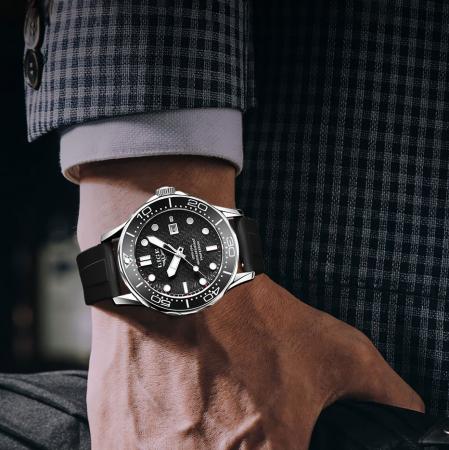 Ceas de mana barbatesc Lige Quartz Casual Fashion Curea din silicon [6]