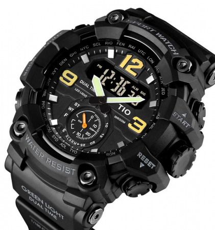 Ceas de mana barbatesc TIO Militar Cronograf Sport Digital Army Rezistent la socuri si apa0
