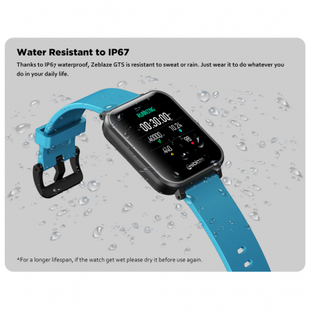 Ceas smartwatch Zeblaze GTS Fitness Tracker Primire  Efectuare Apeluri Monitorizeaza Ritm Cardiac [7]