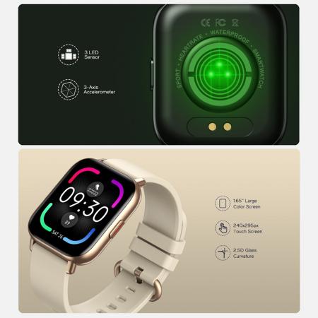 Ceas smartwatch Zeblaze GTS Pro Fitness Tracker Monitorizeaza ritmul cardiac Compatibil AndroidIOS [8]