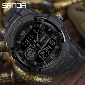 Ceas Sport Sanda, Rezistent la apa, Dual Time, Quartz1