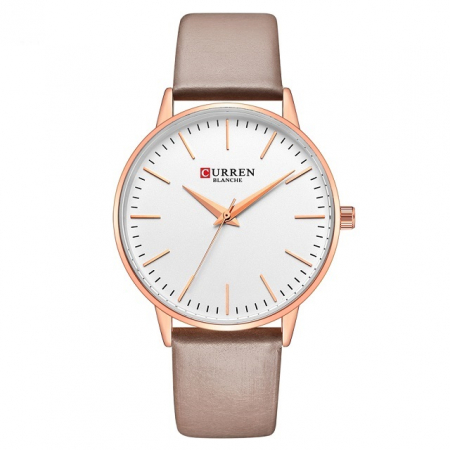 Curren Ceas dama Quartz Casual Fashion Auriu0