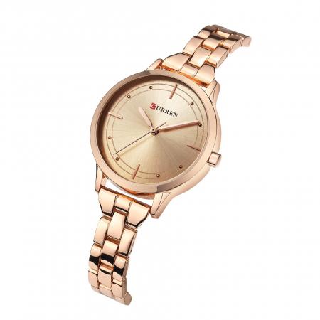 Curren Ceas de mana dama Elegant Quartz din Otel inoxidabil1