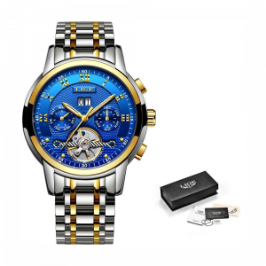 Lige Ceas mecanic automatic Clasic Fashion Otel inoxidabil [2]