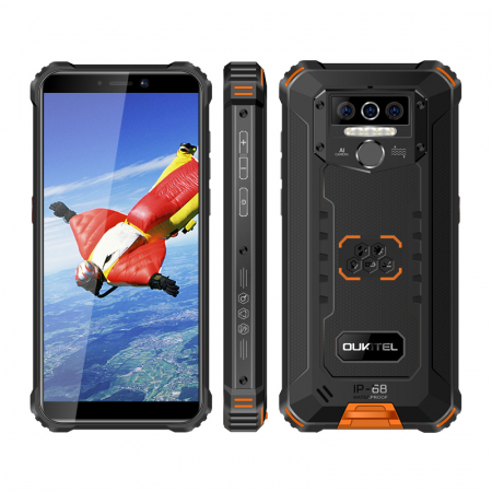 Telefon mobil Oukitel WP5, Smartphone rezistent, Baterie 8000 mAh IPS 5.5inch, 4GB RAM, 32GB ROM, Android 9.0, Orange5