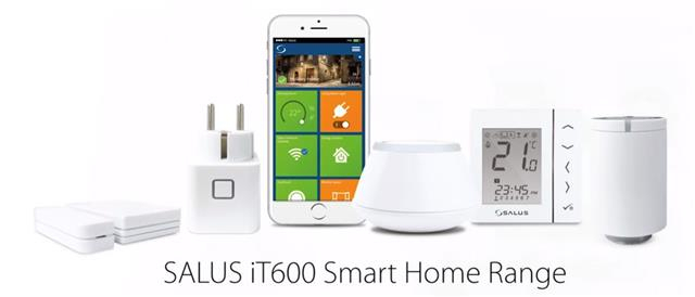 Smart Home Salus IT600 pachet baza Gateway UGE600, Termostat digital 4 in 1 VS20WRF, Receptor de sistem RX10RF, priza inteligenta SPE600. 5 ani garantie 2