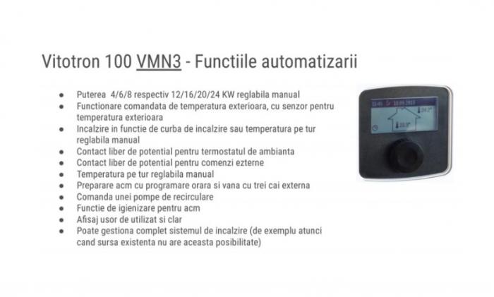 Centrala electrica, 4-8 kW, automatizare VLN3, Viessmann Vitotron 100 5