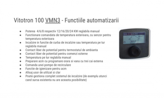 Centrala electrica, 12-24 kW, automatizare VLN3, Viessmann Vitotron 100 5