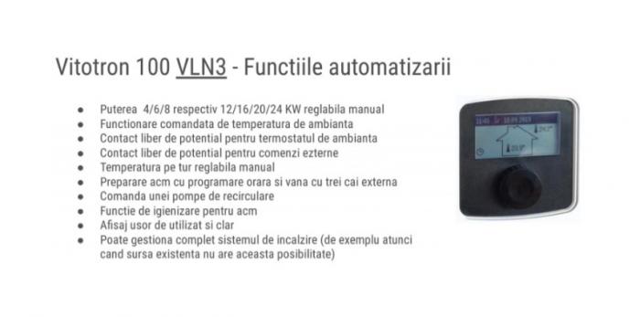 Centrala electrica, 12-24 kW, automatizare VLN3, Viessmann Vitotron 100 4