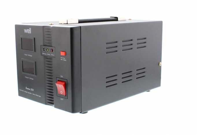 Stabilizator automat de tensiune cu servo motor Secure 500VA, Well 2