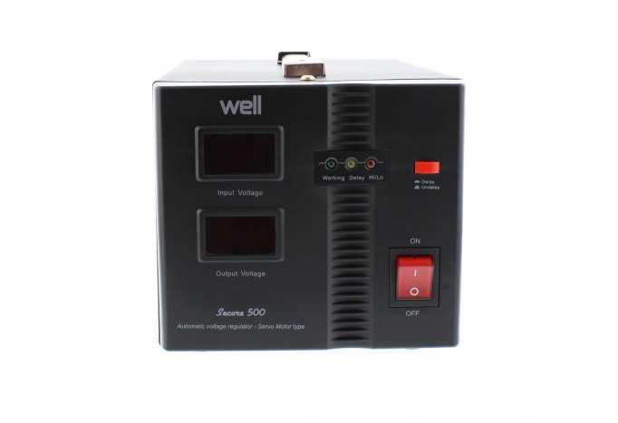 Stabilizator automat de tensiune cu servo motor Secure 500VA, Well 1