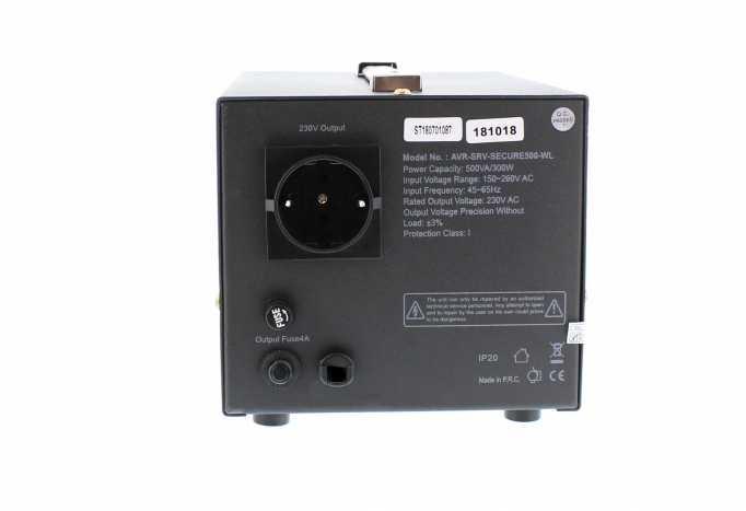 Stabilizator automat de tensiune cu servo motor Secure 500VA, Well 3
