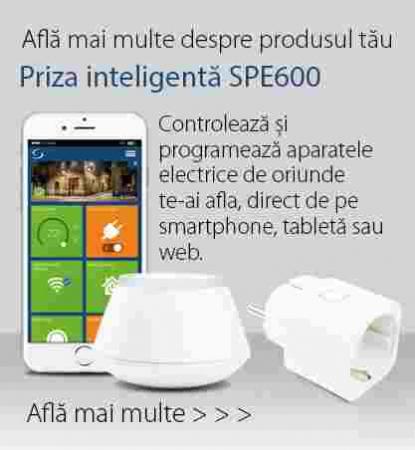 Priză inteligentă cu monitorizare consum de energie SPE6002