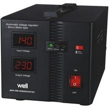 Stabilizator automat de tensiune cu servo motor Secure 500VA, Well0