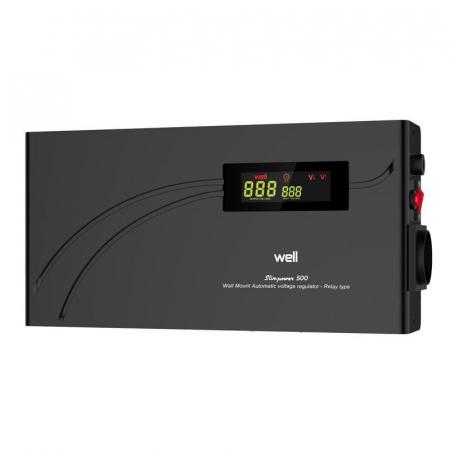 Stabilizator automat de tensiune cu releu 500VA, orizontal, Well0