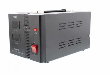 Stabilizator automat de tensiune cu servo motor Secure 500VA, Well2