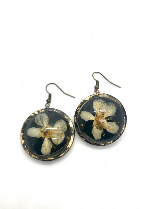 Cercei cu flori de cires - Cercei Handmade [2]