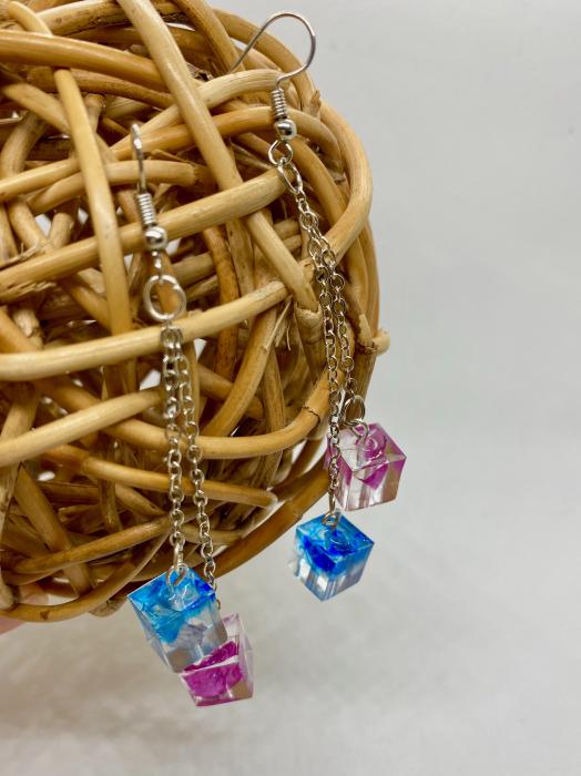 Cercei cuburi colorate cercercei - Cercei Handmade 2