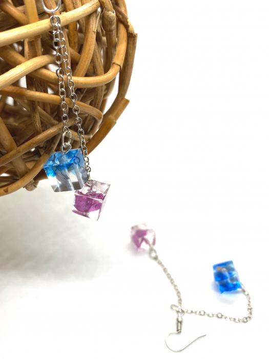 Cercei cuburi colorate cercercei - Cercei Handmade 3