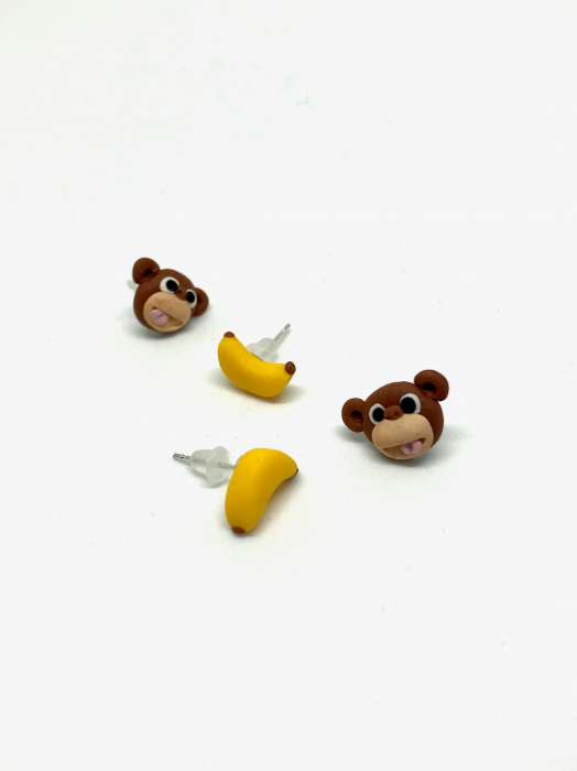 Cercei maimuta fericita - Cercei Handmade [0]