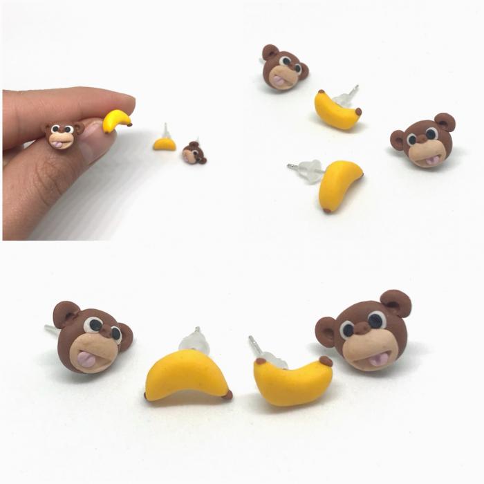 Cercei maimuta fericita - Cercei Handmade [1]