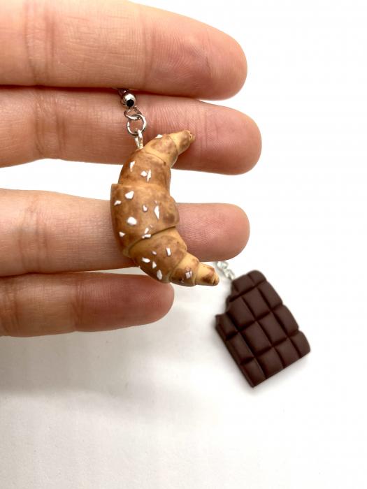 Cercei cu ciocolata si croissant cercercei - Cercei Handmade [4]