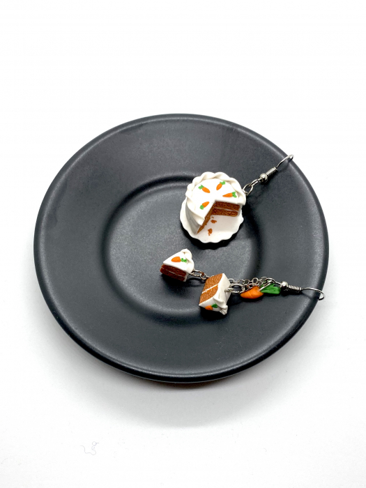 Cercei tort de morcovi cercercei - Cercei Handmade [5]