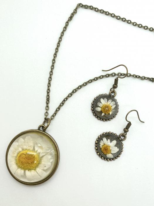 Set de bijuterii cu margatere handmade cercercei 3
