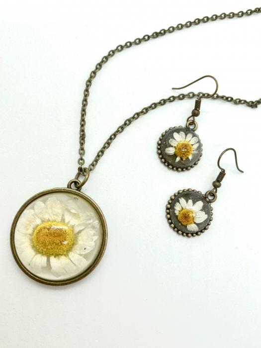 Set de bijuterii cu margatere handmade cercercei 4