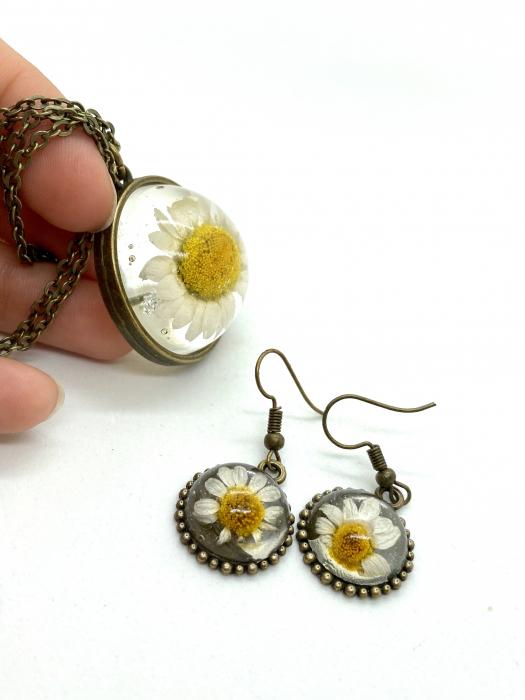 Set de bijuterii cu margatere handmade cercercei 6