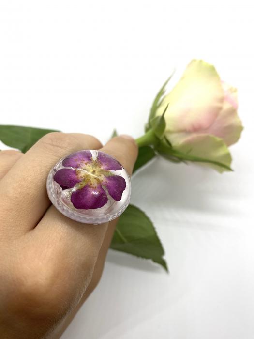 Inel cu flore de trandafir 9