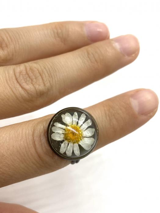 Inel handmande cu flore de margareta cercercei [0]