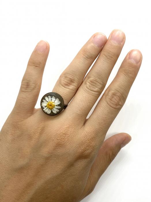 Inel handmande cu flore de margareta cercercei [2]