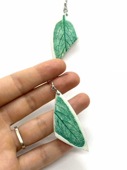 Cercei frunza cercercei - Cercei handmade [4]