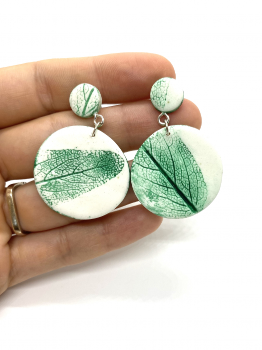 Cercei cu frunza - Cercei handmade [0]