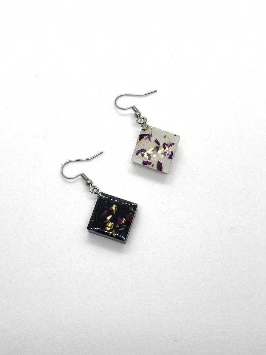 Set de bijuterii cu alb si negru- Set bijuterii handmade 1