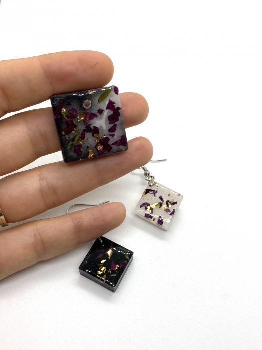 Set de bijuterii cu alb si negru- Set bijuterii handmade 0