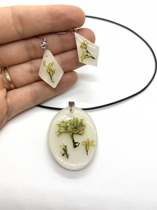 Set de bijuterii cu licheni - Set bijuterii handmade [2]