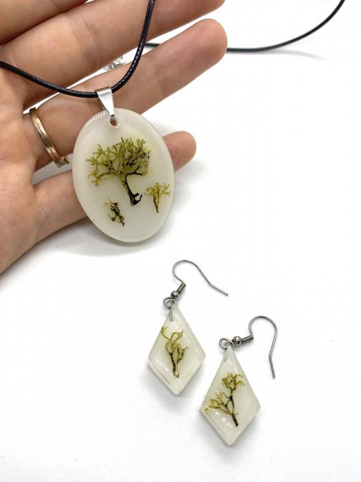Set de bijuterii cu licheni - Set bijuterii handmade [3]
