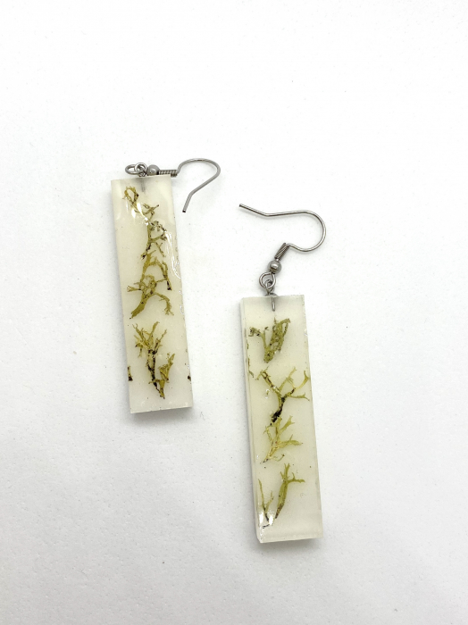 Cercei cu licheni - Cercei Handmade 2