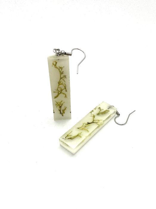 Cercei cu licheni - Cercei Handmade 3