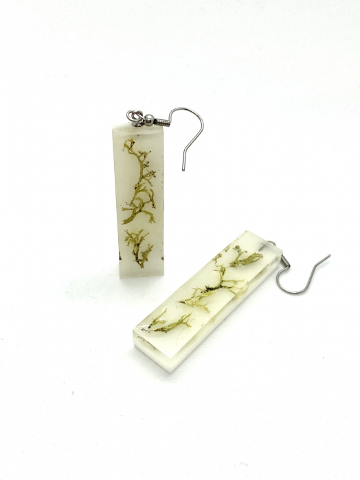 Cercei cu licheni - Cercei Handmade 4