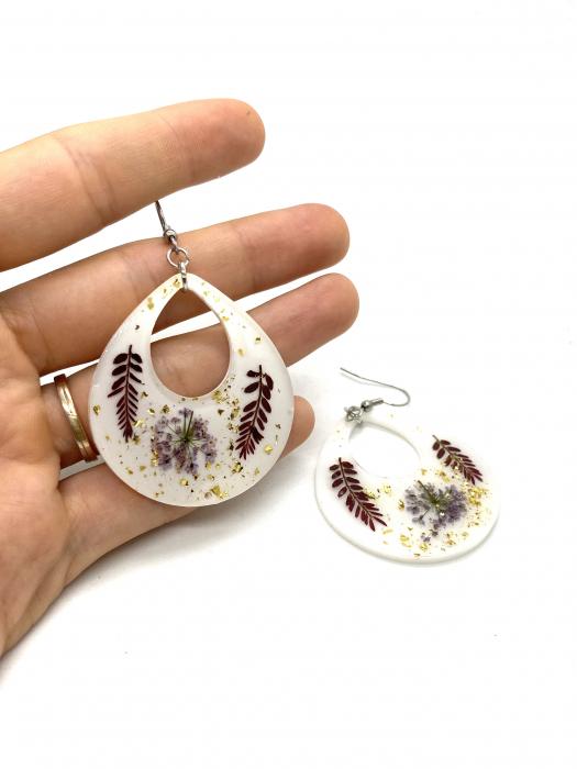 Cercei cu frunze cercercei - Cercei handmade [2]