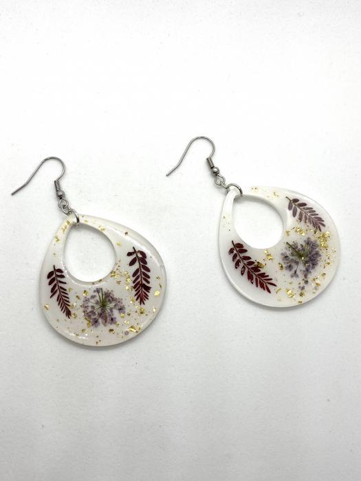 Cercei cu frunze cercercei - Cercei handmade [3]