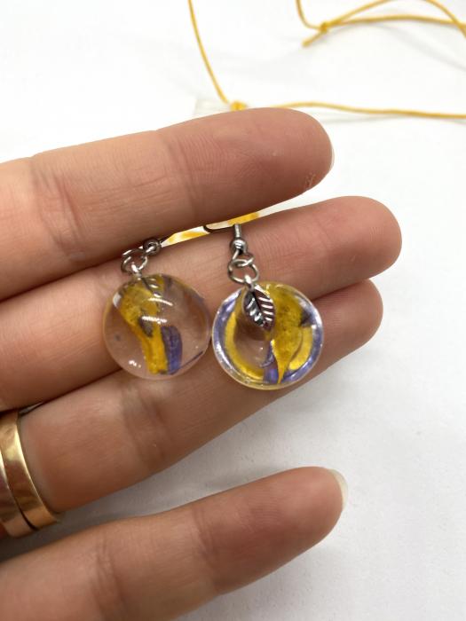 Set de bijuterii handmade cercercei 9