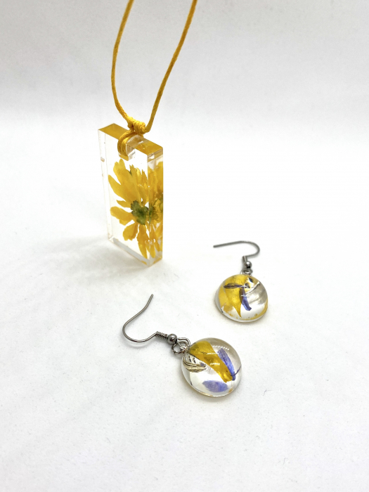 Set de bijuterii handmade cercercei 0