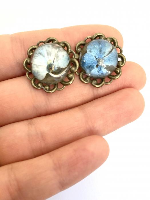 Set bijuterii cu hortensii cercercei 3